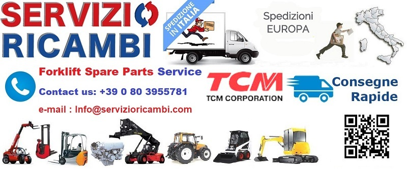 Ricambi TCM forklift spare parts service supply